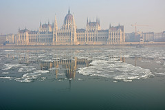 Parliament , Budapest (misi212) Tags: parliament budapest fog icy water