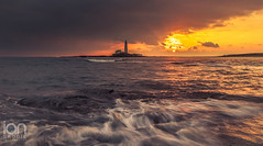From Darkness comes Light (ianbrodie1) Tags: st marys lighthouse whitleybaylighthouse coast coastline seascape water sea ocean waves sun clouds sunrise cloudsstormssunsetssunrises darkness moody skies