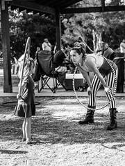 Conversation 2 (Manny Esguerra) Tags: outdoors stripes bw hoop park