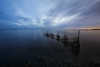 Looking for a net connection (Stephen Hunt61) Tags: net seascape clouds water reflections sunset salty stefanocaccia laguna mare paesaggio outdoor liquid