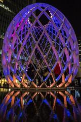 OVO - Canary Wharf. (Dave Pearce (London)) Tags: ovo canary wharf light hand held low canon 1635l london led art public