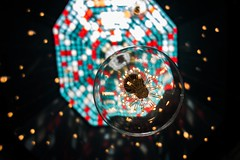 (aesrth) Tags: lamp glass colorful blue red yellow sky ceiling artificial connotation led window lights hanging sphere
