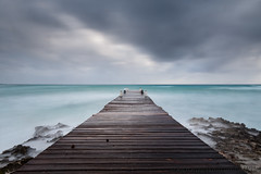 Wooden Dock (WhitcombeRD) Tags: wind westbay grand nature long rough weather waves dock caribbean exposure smooth gloomy winter caymanislands cayman ocean sea storm