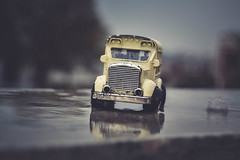 in rain (Ayeshadows) Tags: oldbus rain splash cloudy heavy winter