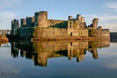 Caerphilly Castle (parry101) Tags: caerphilly castle castles british south wales cymru morning reflection reflections longexposure long exposure sky cloud clouds blue medieval fortification geraint parry geraintparry