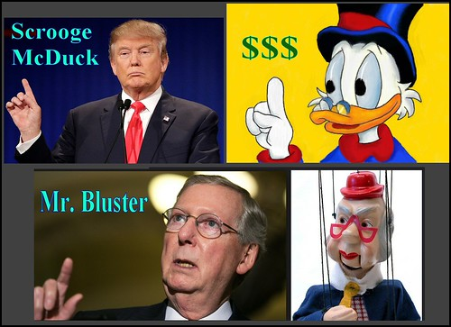 From flickr.com: Scrooge McDuck, Mr. Bluster. Today's Republican Party: Mean. {MID-138250}