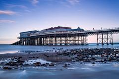 Coastal Blues, (Andy Bracey -) Tags: andybracey andybraceyphotography bracey landscape seascape coast coastal beach sands sea pier cromer norfolk cromerpier nikon longexposure littlestopper leefilters ndfilter coastalblues sunset evening spring rockpool reflection