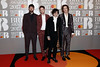 Ross McDonald, Matt Healy, George Daniel and Adam Hann of The 1975 attend The BRIT Awards 2017 at The O2 Arena on February 22, 2017 in London, England. (Photo by John Phillips/Getty Images)