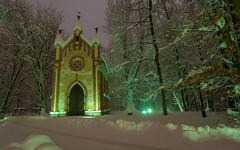St. Joseph's Chapel (15) (Vlado Ferenčić) Tags: stjosephschapel churches chapel novidvori zaprešić hrvatska croatia nikond90 tokina12244 winter nocturnal trees vladoferencic