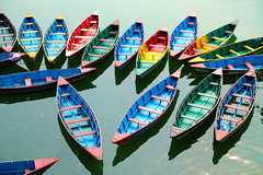 DSCF1332_lzn (sfoy.sdca.photos) Tags: nepal pokhara canoes phewa lake namaste travelphotography colors lakeside