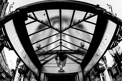 Hotel entrance (Mike Thorn) Tags: fisheye building bath hotel mikethornberry abstract monochrome sigma canon