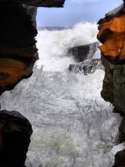 sml-fhdr-DSCN0138 (elphweb) Tags: roughseas roughsea ocean nsw australia sea water waves breakers storm coast coastal falsehdr fhdr bigwaves bigsurf surf foam mist