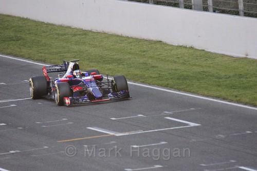 Daniil Kvyat in his Toro Rosso in Formula One Winter Testing 2017