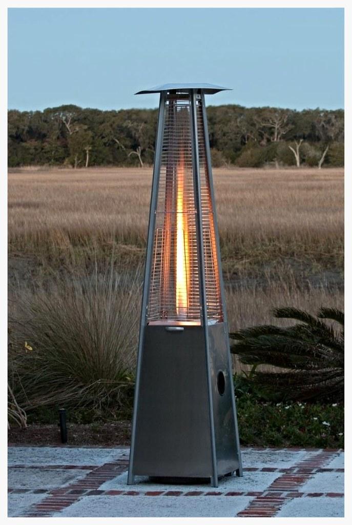 FireSense stainless steel glass tube patio heater