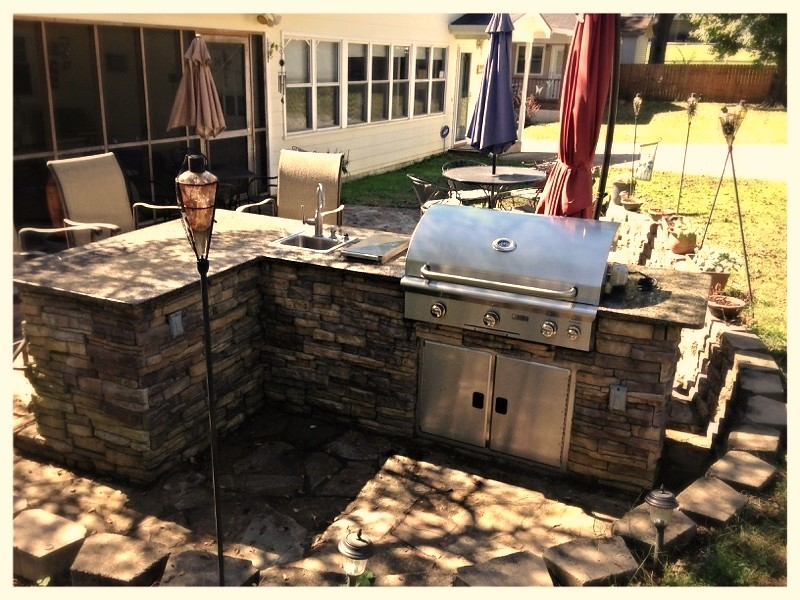 "Custom Outdoor kitchen with 36"" AOG Grill, Chattanooga, Tn."