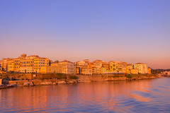 The Colors of Sunrise (Bill-Metallinos) Tags: old city travel blue sea summer sky italy sun seascape heritage water beautiful architecture sunrise island islands town seaside europe medieval unesco greece corfu periphery ionian mediteranean kerkira metallinos