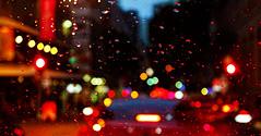 Brisbane Rain (susancvineyard) Tags: reflection car rain dark cityscape darkness citylife prism australia brisbane citylights queensland raindrops carlights citystreet rainycity vibrantcolors rainystreet brisbanecbd susanvineyard