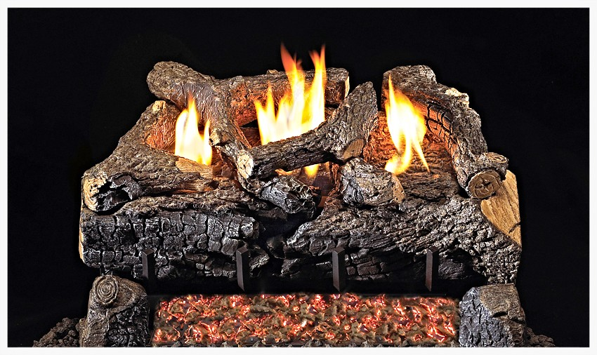 Real Fyre G-18 Unvented Charred Evening Fyre Gas Log Set