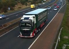 H4113 - KX15 NRV (Cammies Transport Photography) Tags: truck volvo amazon lorry louise eddie fh flyover dunfermline esl bryony m90 nrv stobart kx15 h4113 kx15nrv eddiestoabrt
