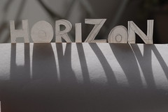 Horizon (Nath B.) Tags: light shadow art paper word lumire horizon ombre papier mot texte