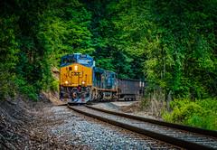 Coal Train (Andy Chabot) Tags: railroad train track diesel railway wv transportation locomotive coal ge chabot csx thurmond