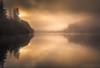 The Sermon II (GenerationX) Tags: trees mist water silhouette fog sunrise reflections landscape dawn mirror scotland shadows cross unitedkingdom ducks scottish neil calm gb marker trossachs barr gloaming aberfoyle lochard nohorizon kinlochard lochardforest canon6d