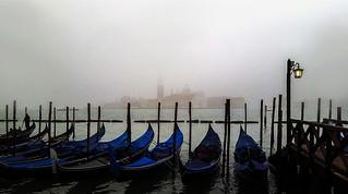 nebbia fitta a venezia