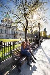 Belfast City Hall (mbriga) Tags: ireland girls tree canon eos mark iii belfast northernireland 5d backlit northern hdr subtle subtlehdr 5dmk3 eos5dmarkiii 5d3 5diii