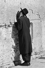 Up Against the Wall (Packing-Light) Tags: youth israel palestine westbank muslim jerusalem prayer religion middleeast christian jewish conflict orthodox israeli oldcity dogma westernwall levant wailingwall palestinian