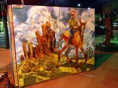 Horse and Rider (angle view) (Kerry Niemann) Tags: mesaaz spraypaintmural cowboyandhorsepainting