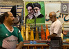 men training at saheb a zaman club zurkhaneh in front of khameini and khomeini posters, Yazd Province, Yazd, Iran (Eric Lafforgue) Tags: people male men sport horizontal training persian athletic adult iran muslim islam performance middleeast persia bodybuilding indoors shia ritual tradition activity kashan sufi sufism cultures 2people twopeople yazd zurkhaneh shiite practising menonly seniorman waterreservoir exercising persiangulfstates traditionalsport khomeini 60sadult إيران onlymen иран 16046 colourimage イラン zourkhaneh irão khameini abanbar isfahanprovince 伊朗 zurkhane humanrepresentation yazdprovince muscularbuild westernasia houseofstrength 이란 gowd