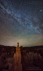 Thor's Hammer by Night (Darren Barnes Photography) Tags: park light brown lightpainting hammer by night painting way landscape lights nightlights tan canyon national astrophotography bryce milky milkyway brycecanyonnationalpark 2015 thors dwoodphotography dwoodphotographycom thorshammerbynight