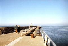 Warnemnde Westmole - November 1992 (Detlef Wieczorek) Tags: sea warnemnde baltic ostsee