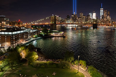 September 11 Tribute in Light, 2016 (BrianEden) Tags: xpro1 11th manhattan september11 newyork sept11 fujifilm ny lights 911 nyc newyorkcity fuji tributeinlight september sept unitedstates us