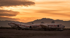 Abandoned Airpark (utski7) Tags: abandonedairpark sunset arizona chandler plane