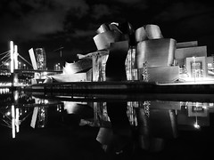 Guggenheim, Bilbao. This picture was shot at the same time as the massacre in Nice during bastille day was going on!