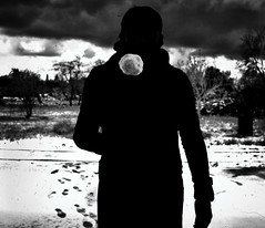 Snowball (marcus.greco) Tags: snowball snow selfportrait portrait dark black white winter man