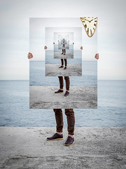 The Past is Present (Lightcrafter Artistry) Tags: time clock philosophy metaphysics trippy art sky ocean beach picture conceptual surreal illusion history timeline psychology sociology culture