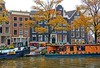 Houseboats and Canal Houses Prinsengracht in Amsterdam (PhotosToArtByMike) Tags: prinsengracht canal jordaan amsterdam houseboats canalring canalhouse grachtengordel netherlands dutchgoldenage dutch holland