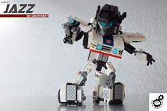 5. Jazz Bot Pose 1 (Sam.C MOCs (S2 Studios)) Tags: lego moc jazz meister transformers autobots mecha scifi 80s robot porsche vehicle car
