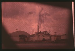 Reactor 4 (posts_lv) Tags: reactor4 reactor 4 chernobyl exclusion zone nuclear power plant cnpp death radiation bird skeleton corpse wings fly sarcophagus sky red catastrophe explosion radioactive analog film photo combo zenit zenit11 helios agfaphoto ct precisa 100 color slide fujifilm xtra 400 negative
