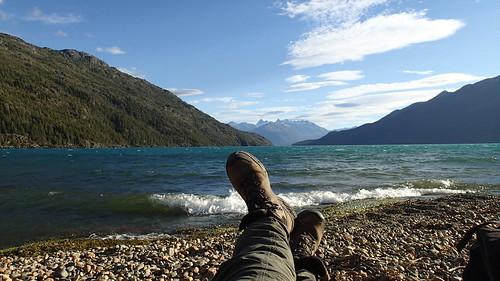 Descansando en el Lago Puelo
