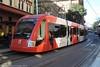 Sydney Light Rail Flashbacks - LRV 2109 in Hay Street heading towards Central (john cowper) Tags: sydneylightrail flashbacks haystreet urbos2 lrv2108 sydneypublictransport sydney haymarket newsouthwales