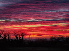 IMG_2962 sunset (pinktigger) Tags: sunset country countryside fagagna feagne friuili italy italia sky clouds outdoor