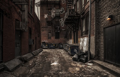 Montreal behind the scenes (urbanexpl0rer) Tags: street streetphotography alley montreal urban nopeople quebec canada moody abandoned garbage city architecture buildings stairs gravity