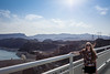 Happy New Year! (PANDORA OR LATER) Tags: 21 travel hooverdam myself thankful america vacation dam girl sky blue waterfront water bridge arizona lasvegasnevada vegas silver state mountains hill dessert sony rx100
