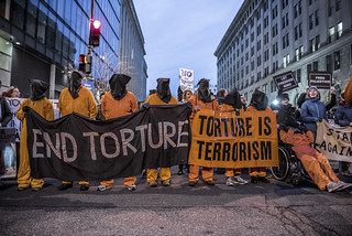 Witness Against Torture Protests Outside the Presidential Inauguration of Donald Trump