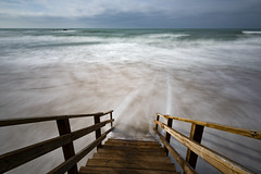 Stairways (Andreas Mezger - Art Photography) Tags: andalusia water sea atlantic long exposure sky clouds waves nikon d810