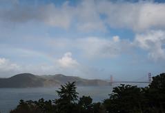 Faint rainbow over the Marin Headlands (BECK17) Tags: legionofhonor marinheadlands clouds goldengatebridge