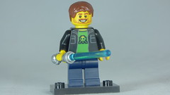 Brick Yourself Custom Lego Figure Happy Gamer with Light saber